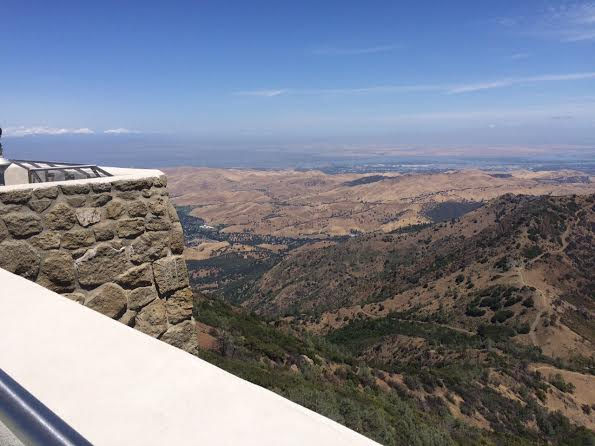 Corner of the lookout from the Mt. Diablo Visitor Center.