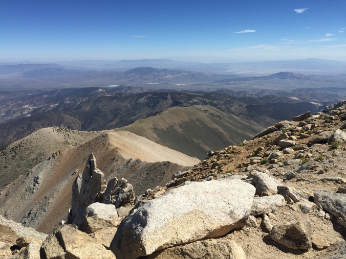 Looking across Nevada at the summit.