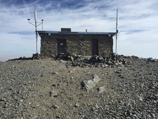 The White Mountain Peak summit cabin.