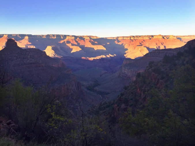 Mile 45, counting down the minutes until the light fades from the day over the canyon.