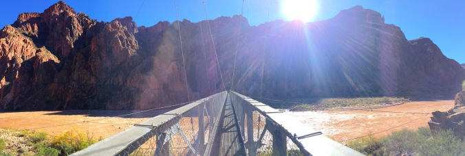 Crossing the Silver Bridge to the Bright Angel Trail, around mile 36.
